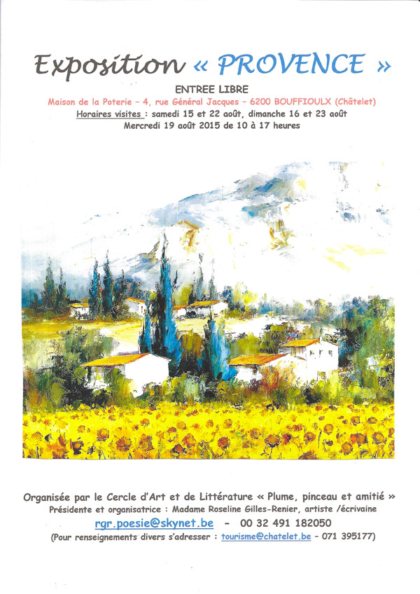 Expo Bouffioulx, Marie-Jeanne Gay y participe